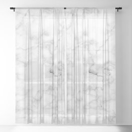 White marble decor 1 Sheer Curtain