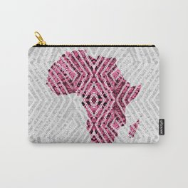 Africa in Grey Pink Carry-All Pouch