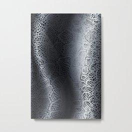 Gray Snake Skin Metal Print