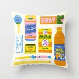 Survial Kit Throw Pillow