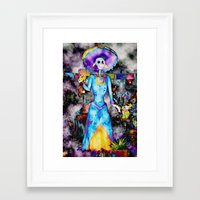 day of the dead Framed Art Prints featuring Day Of The Dead by Serena Gailey