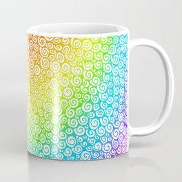 Rainbow Spiral Drawing Coffee Mug