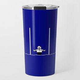 AFL Football Goal Umpire Travel Mug