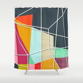 ColorBlock V Shower Curtain