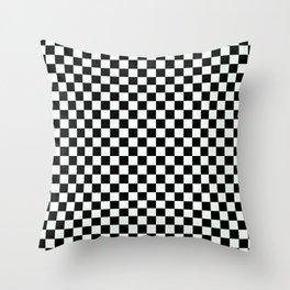 B&W CHECKER Throw Pillow