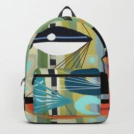 Mid Century Modern Fish Art Backpack