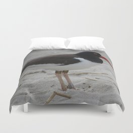 Oyster Catcher at Cape May Duvet Cover