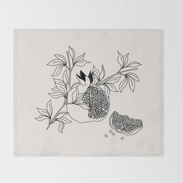 Pomegranate (BW) Throw Blanket