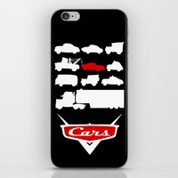 cars iPhone & iPod Skins featuring Cars by Citron Vert