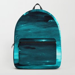 Rigged in Your Favor Rumi Quote Teal Galaxy Backpack