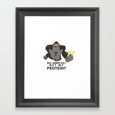 The Protein Question Framed Art Print