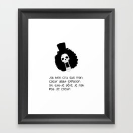 Blague de squelette 1 Framed Art Print