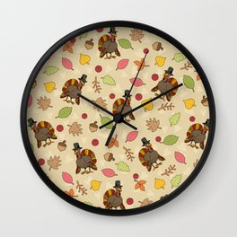 Thanksgiving Turkey pattern Wall Clock