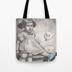 Her blue shoes Tote Bag