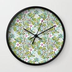 Flowers 'n Rain. Wall Clock