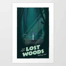 Lost Woods (Legend of Zelda) Travel Poster Art Print