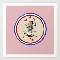 Global Circus - Bush with Bombs Art Print
