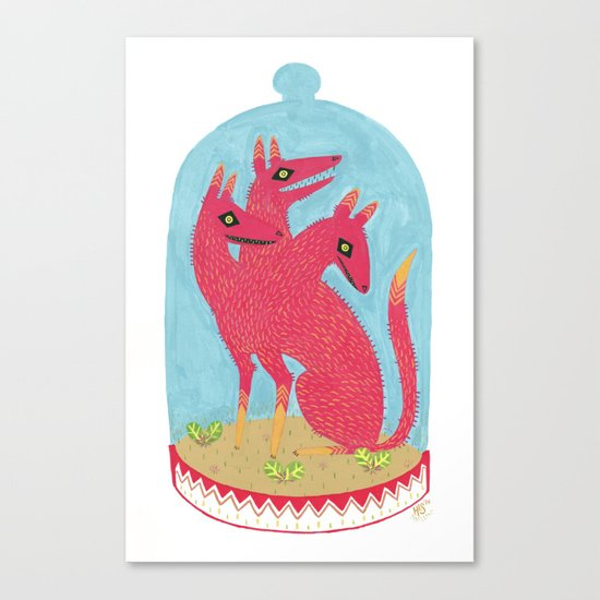 Don't Keep Your Hellbeasts in Glass Jars  Canvas Print