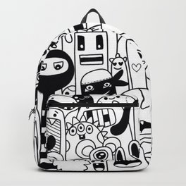 Funny monsters pattern Backpack