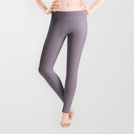 Heliotrope Gray - solid color Leggings