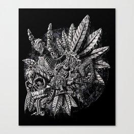 Aztec Great Lizard Warrior 1 (Triceratops) Canvas Print