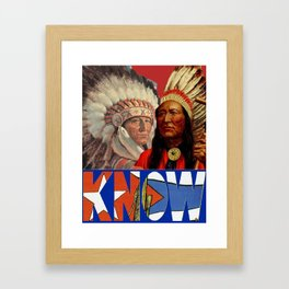 Know '16 Framed Art Print