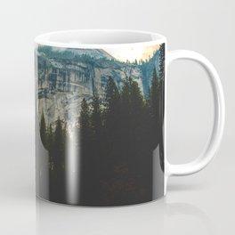 Path leading to Mountain Paradise Mountain Snow Capped Pine trees Tall Grass Sunrise Landscape Coffee Mug