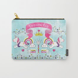 Dream Big Unicorn Carousel Carry-All Pouch