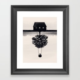 Drift Away (b&w) Framed Art Print