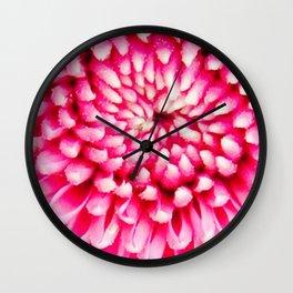 Cherry Pie Dahlia Wall Clock
