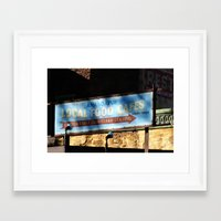 cafe Framed Art Prints featuring Cafe by Ink and Paint Studio