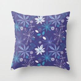 Blue Summer Throw Pillow