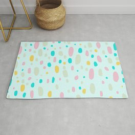 Besotted & Spotted - Multicolor & Mint Green Rug