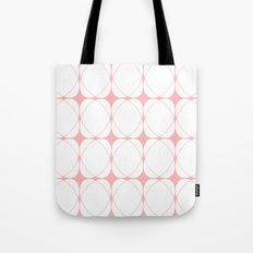 Abstract pattern - pink and white. Tote Bag