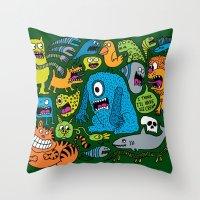 ice cream Throw Pillows featuring Ice Cream by Chris Piascik
