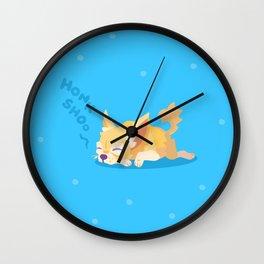 Snoozing Chihuhua Wall Clock