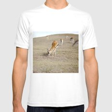 Gizelles  MEDIUM Mens Fitted Tee White