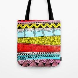 Illustrated Stripes in Modern Patterns Tote Bag