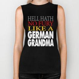 Funny German Grandma Gift Hell hath no fury Biker Tank