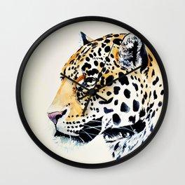 The Leopard Watercolor (Color) Wall Clock