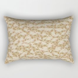 Wednesday Frog Pattern Rectangular Pillow