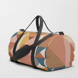 Modern Triangle Quilt Blocks Duffle Bag