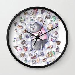 Junk Food Coma Kitty Wall Clock