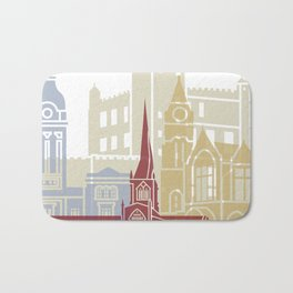 Chesterfield UK skyline poster Bath Mat