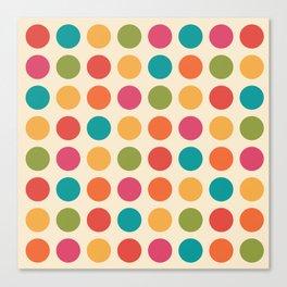 Mid Century Color Dots Canvas Print