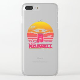 Roswell UFO conspiracy theory Area 51 gift Clear iPhone Case