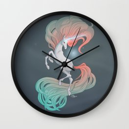Unicorn in the Ether Wall Clock