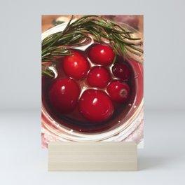 Tis the season - cranberry toast to the holiday Mini Art Print