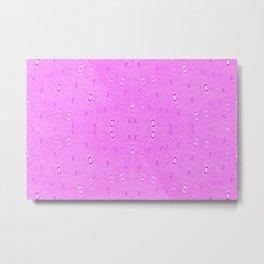 1905 pink pattern Metal Print