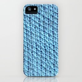 Seed Stitch Blue iPhone Case